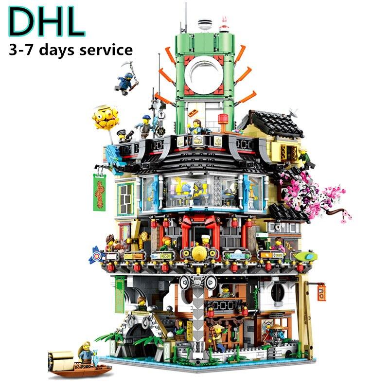 Version limitée Ninjago film ville siège Construction blocs de Construction Kit briques ensembles jouets classiques compatibles Legoings
