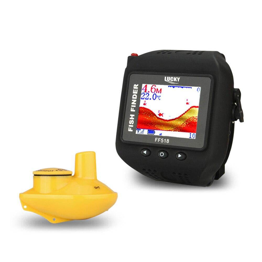 LUCKY 200FT 60M Range Sonar Fish Finder Watch Type Wireless echo sounder Fishfinder Portable Fishing Sounder Fishing Tackle Эхолот для рыбалки