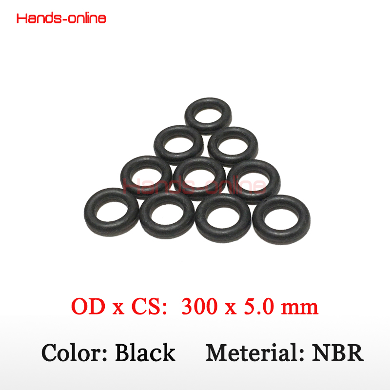O Rings Nitrile 5mm C/S x 300mm ID Seals Oil Resistant NBR Nitrile Butadiene Rubber O-Ring Sealing Ring