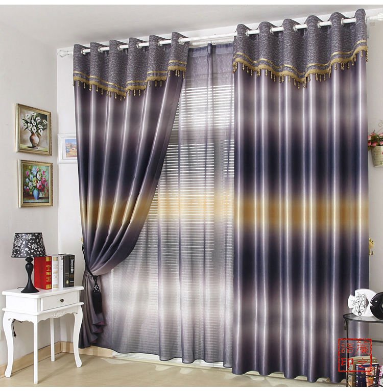 Latest Fashion Window Drape High Quality Screening Blackout Curtain Ready  Made Curtains Printed Living Room/ ... Part 6