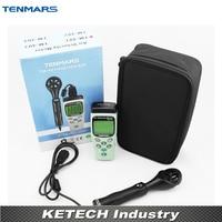 Portable Anemometer Digital Air Velocity Meter Air Speed Meter TM401