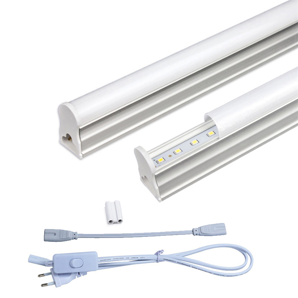 2 pcs/ensemble T5 Led Lumière Tube AC85-265V 2*5 w Mur Lampes 1ft LED T5 Tube Fluorescent Lampe Lumières + Connect Cordon + Interrupteur D'alimentation Câble