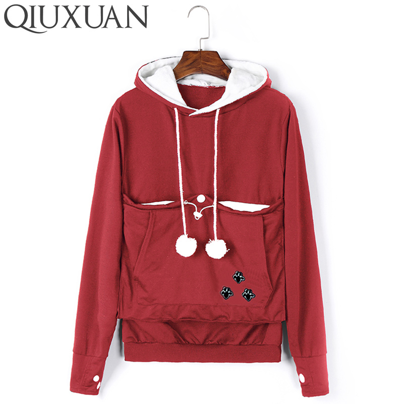 QIUXUAN Plus Size Long Sleeve Embroidery Women Big Pocket Sws