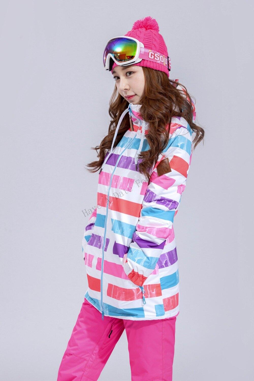 2019 GSOU neige femme veste de Ski Snowboard vêtements de plein air Sport porter Ski équitation veste imperméable coupe-vent femmes manteau nouveau