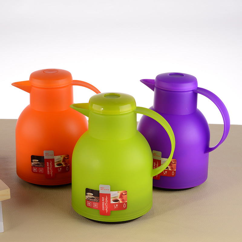 Hot Sale 1L Large Capacity Double Wall Glass Colorful Insulation Pot Kettle Household Hot Water Bottle