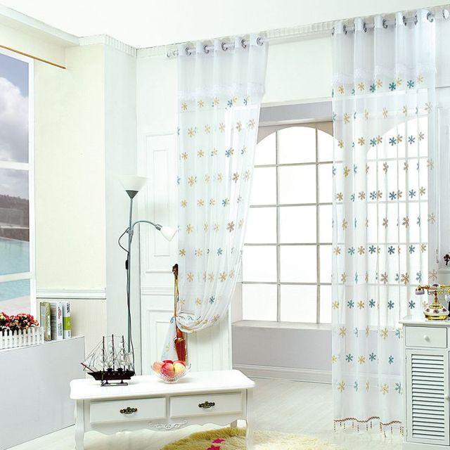 Schneeflocken Muster Schlafzimmer Forschung Fenster Benutzerdefinierte  Vorhang Mit Volant Und Perlen Für Das Wohnzimmer