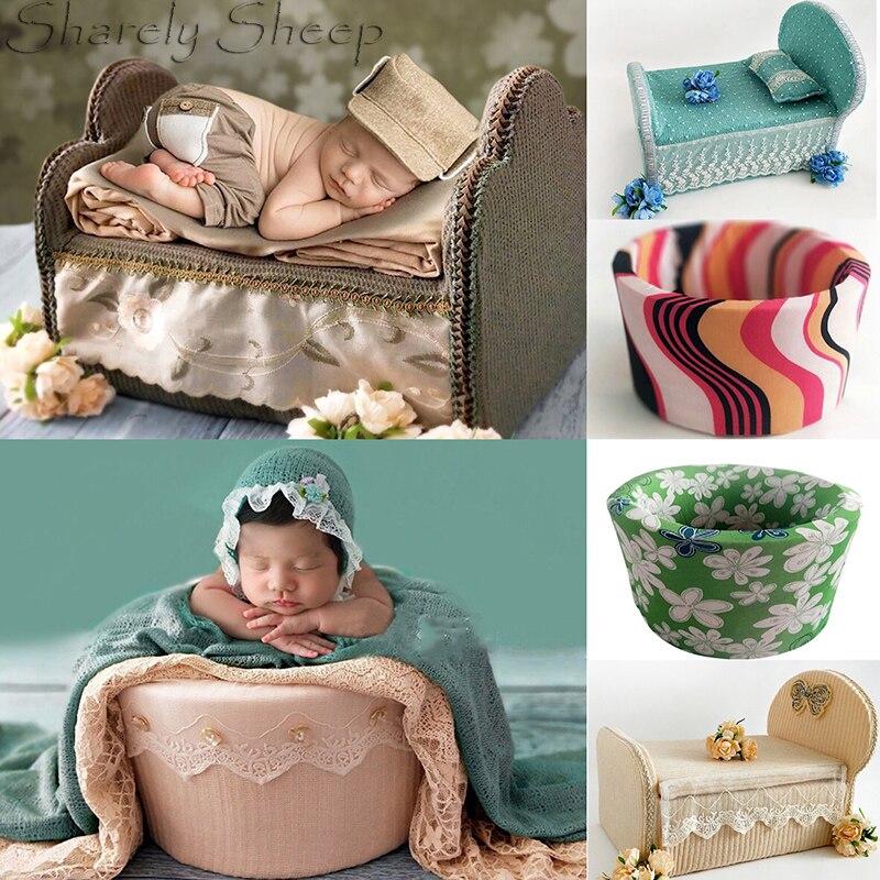 Nouveau-né photographie accessoires panier bébé garçon fille Photo pousses Studio posant Mini lit Prop bebe foto panier accessoires de tir