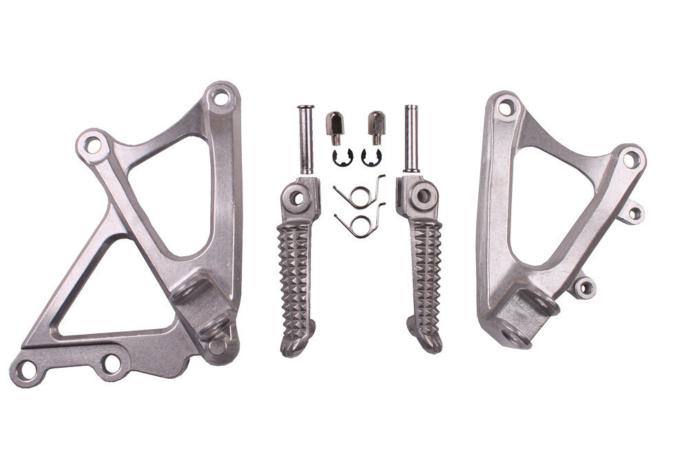 Motorcycle Front Rider Footrest Foot Pegs Bracket Set For Yamaha YZF R1 YZFR1 2009-2014