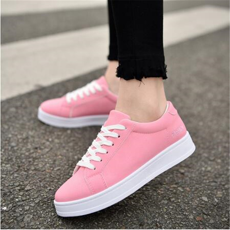 2018 Fashion Sneaker Women flats shoes Canvas Shoes Trainers Girls Fashion Skate Casual Basket Femme Tenis Sneakers size 35-40 skate shoe