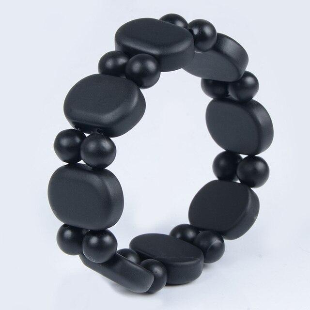 Bianshi Black Bian Natural Stone Bianshi Carve Black Bracelet For Men&Women jewelry 2