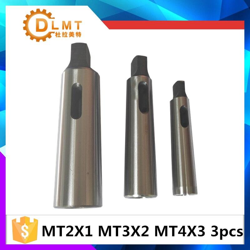 3 pcs cono morse manica adattatore MT1 per MT2 MT2 per MT3 MT3 per MT4 Cono Morse Adapter Riduzione Drill manica3 pcs cono morse manica adattatore MT1 per MT2 MT2 per MT3 MT3 per MT4 Cono Morse Adapter Riduzione Drill manica
