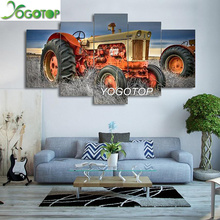 YOGOTOP DIY Diamond Painting Cross Stitch Kits Full Embroidery 5D Square Drill Mosaic Home Decor farm tractor 5pcs ML558