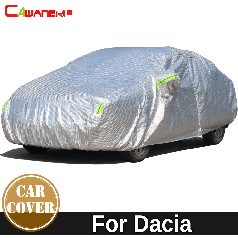 Cawanerl Cotton Car Cover Sun Rain Snow Hail Resistant Cover Waterproof For Dacia Dokker Duster Lodgy