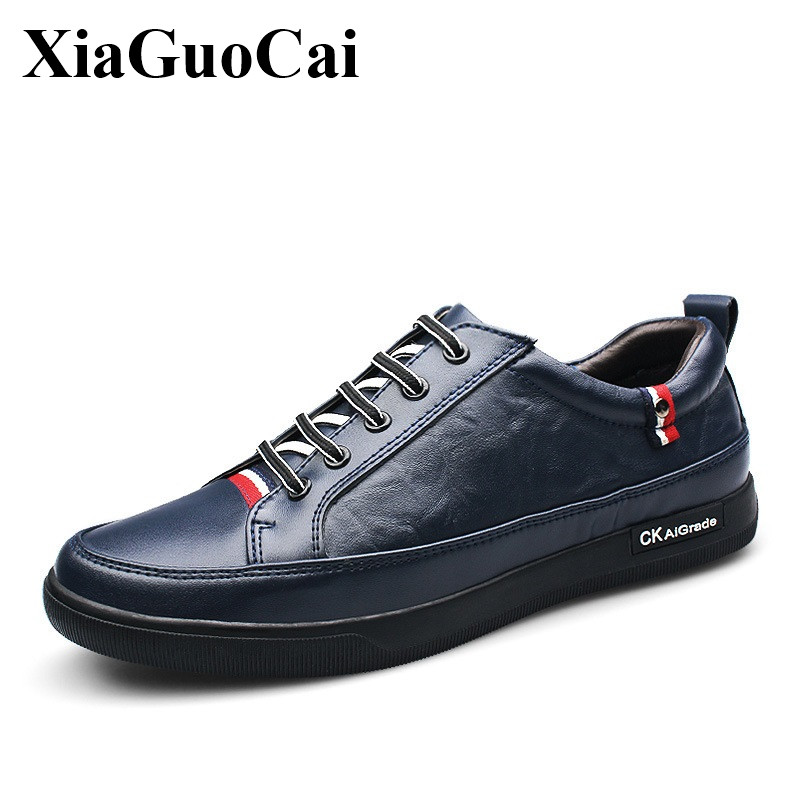 2017 Spring New Genuine Leather Men Casual Shoes British Style Breathable Lace-up Flats Shoes Hard-wearing Trainer'shoes H179 35 шланг подающий gardena 25 мм х 25 м 02792 20