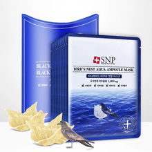 SNP Bird's Nest Aqua Ampoule Mask (10 piece) 25 ml Serum Each Moisturizing & Relieving Irritated Skin Anti Aging Facial Mask snp ice bear cica mask