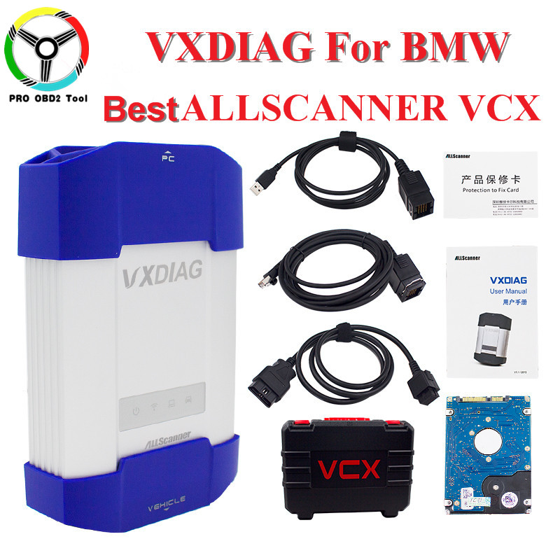 ALLSCANNER VXDIAG MULTI With 500G HDD software Diagnostic Tool Coding For BMW Icom A2 A3 New Car Doctor For BMW VXDIAG VCX NANO