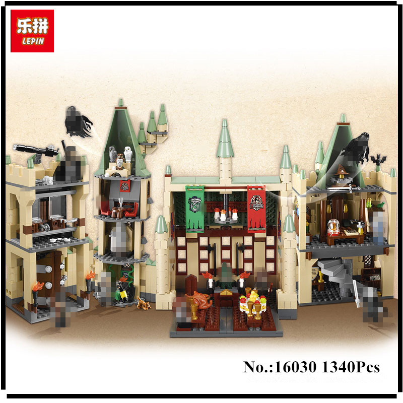 IN STOCK Lepin 16030 Movie Series The Hogwarts Castle Set 1340pcs Building Blocks Bricks Compatible 4842 Educational Toys Model hc9009 1650pcs pikachu cartoon movie series without original box building blocks diamond bricks toys compatible with loz