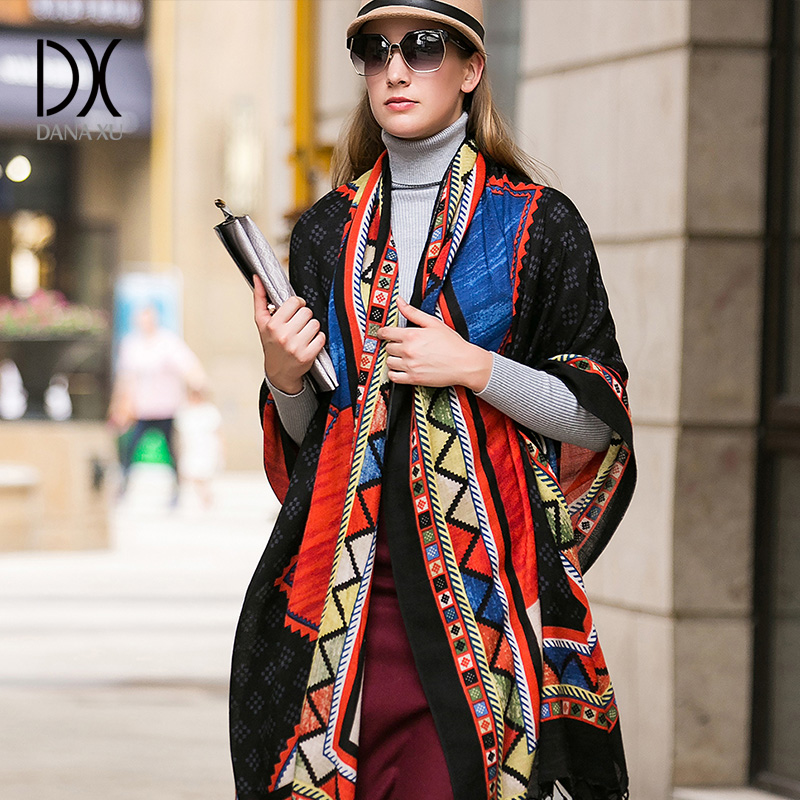 2017 Luxury Brand   Scarf   Unisex Female Male Best Quality Wool Cashmere   Scarf   Pashmina Tassels Women Men   Wrap   Large Size 245*110cm
