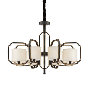 Amerikanischen Vintage Lampe E14 Led-lampe 110 v Kronleuchter Wohnzimmer Hochzeitsdekor Hause Beleuchtung Kupfer Eisen Grün Stoff Lampenschirm