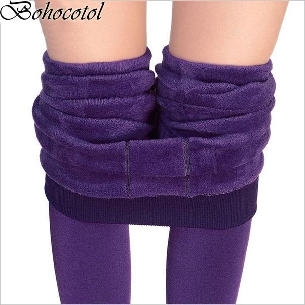 Bohocotol Venta Caliente S-XL 2019 invierno Nueva moda mujer pantalones alta elasticidad buena calidad pantalones de terciopelo grueso Envío de la gota