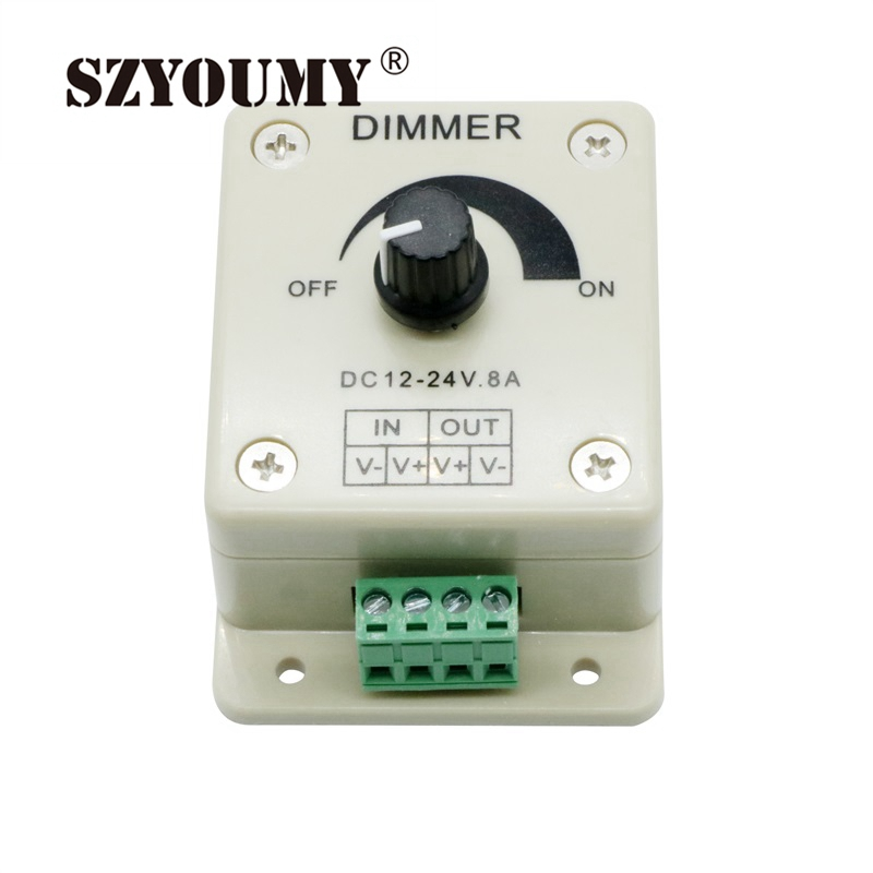 SZYOUMY Hot Selling DC 12V 8A LED Light Protect Strip Dimmer Adjustable Brightness Controller In Stock Free Shipping free shipping 5 pcs lot nta0512mc conv dc dc sm 1w 5vin 12v dl new in stock ic
