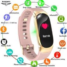 LIGE 2019 умный спортивный браслет для женщин IP67 водонепроницаемые часы монитор сердечного ритма сна информация напоминание о звонке умный браслет + коробка