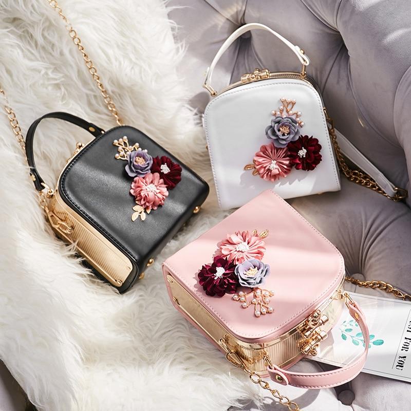 SAFEBET Women's Bag Flower-Chain-Bag Fashion Messenger-Bag Embroidery Female Portable