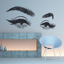 Eyelashes Eye Vinyl Wall Sticker Beauty Salon Girls Removeable Wall Decal Livingroom Bedroom Home Decoration For S ZX222 stylish night owl pattern wall sticker for livingroom bedroom decoration