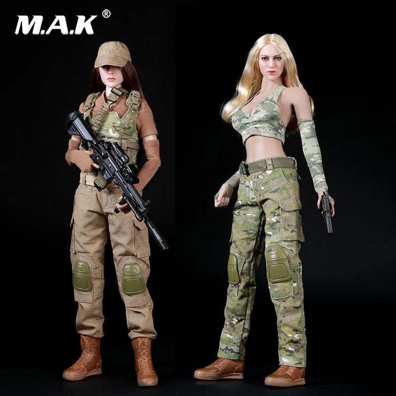 1:6 Scale Camo Shooter Suits Clothes Set for 12 inches Female Action Figure 1 6 scale 12 inches male clothes