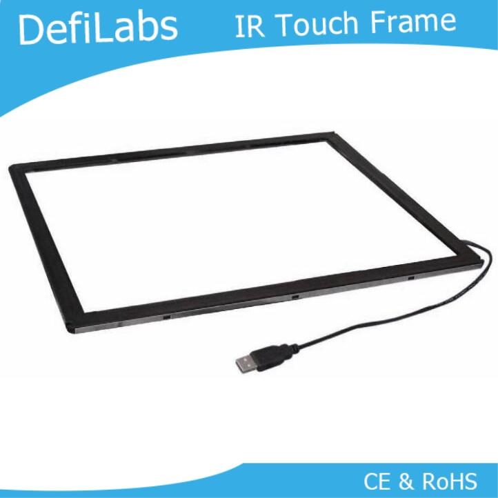 "DefiLabs 10 points  60""  Infrared multi touch screen  panel kits  with competitive price"
