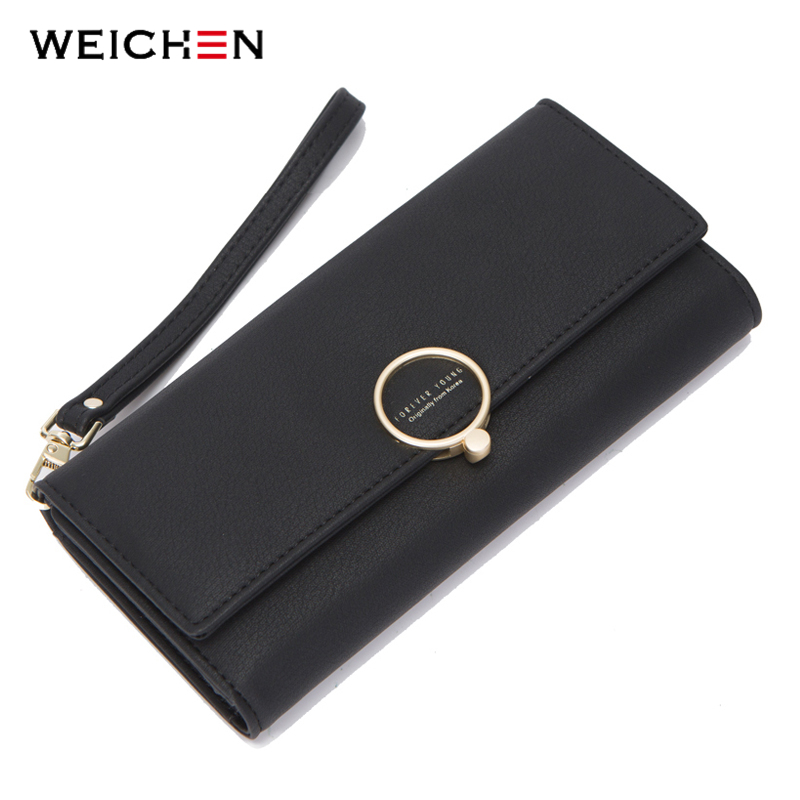 Clutch Wallet Wristband Ladies Purse Geometric Women Card-Holder Female Many Element