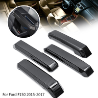 4Pcs ABS Carbon Fiber Car Interior Door Handle Cover Trim Sticker For Ford F150 2015 17 Inner Decoration Accessories