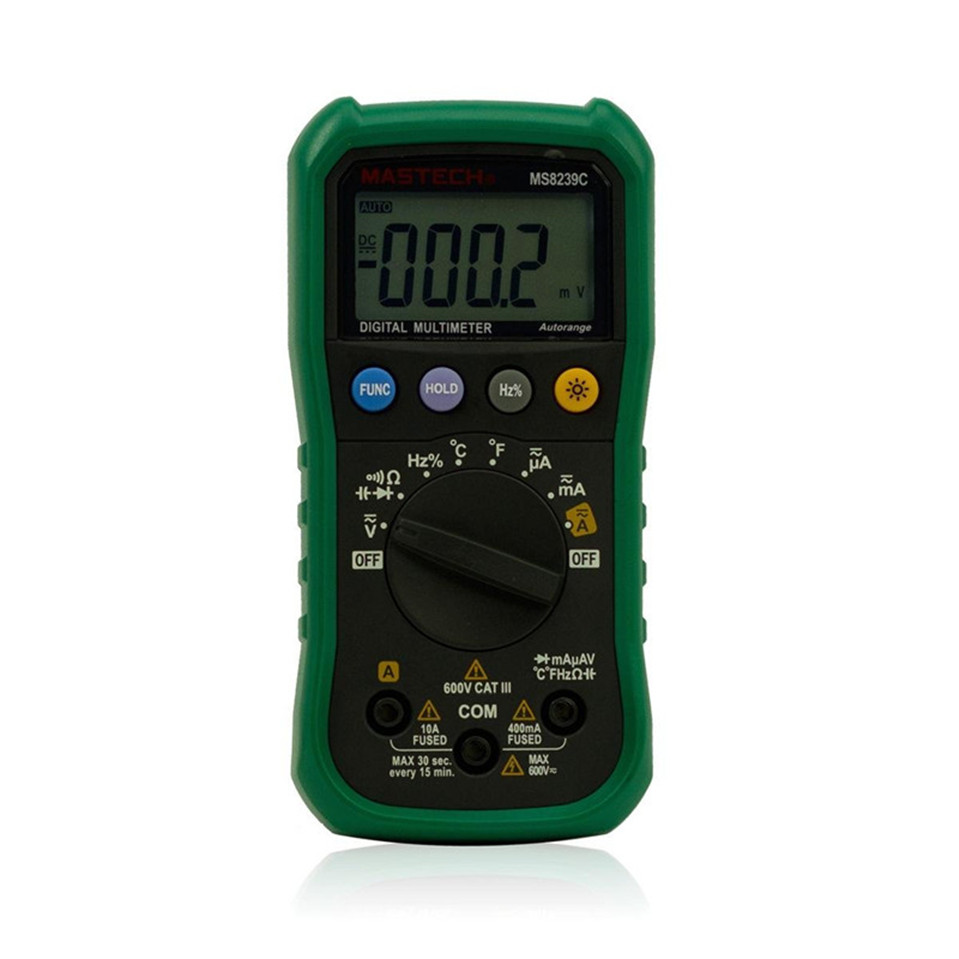 Mastech MS8239C Handheld Auto range Digital Multimeter Temperature Capacitance Frequency Tester AC DC Ohm VOLT Amp Multitester