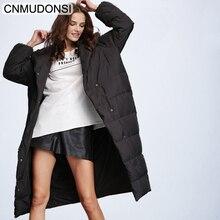 נשים של החורף למטה מעיל אופנה מעיל עבה חם מעיל גברת כותנה מעייל דובון ארוך jaqueta חורף מעיל עם ברדס 2020