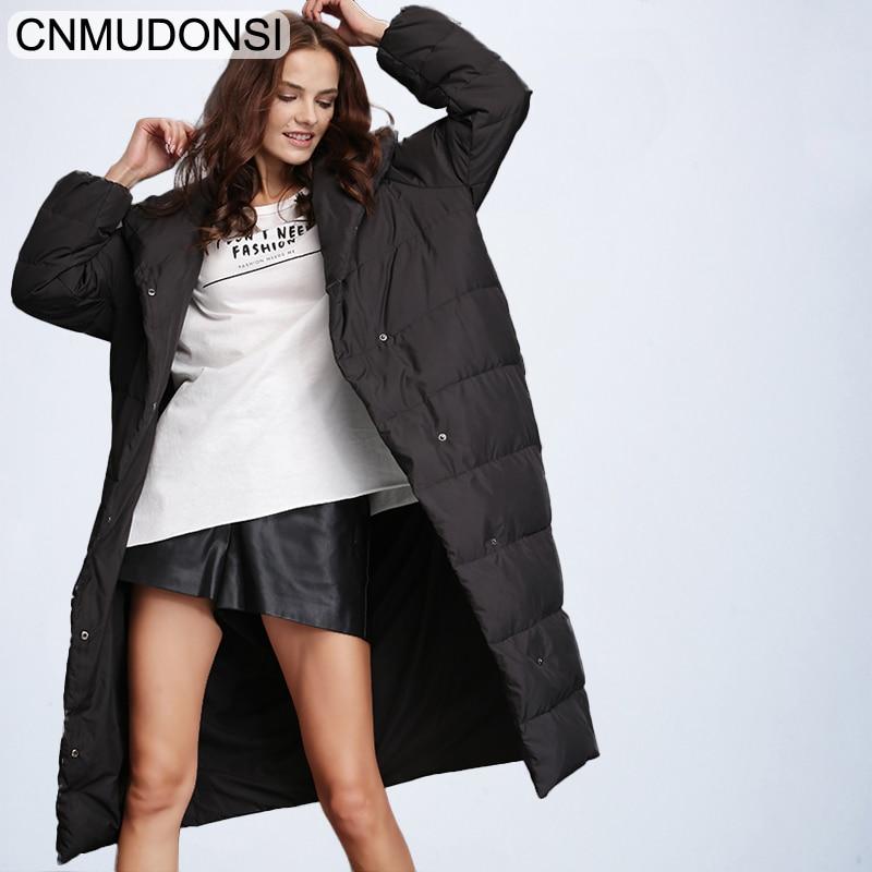 CNMUDONSI de Femmes D'hiver De Mode Veste Épaisse Manteau Chaud Lady Coton Parka Veste Longue jaqueta veste D'hiver avec capuche Feminina - 2