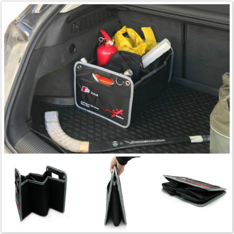 Car-Styling Trunk box bag For Audi S line Sline A3 A4 B6 B5 A1 B7 B8 A7 Q3 Q5 Q7 S4 RS4 A5 S5 RS5 S6 S7 SQ5 8R A8 TT A6 C5 C6 1 pair white auto car led license plate light lamp for audi a3 a4 a6 a8 q7 rs4 b6 c6 car styling 18 led bulbs 6500k