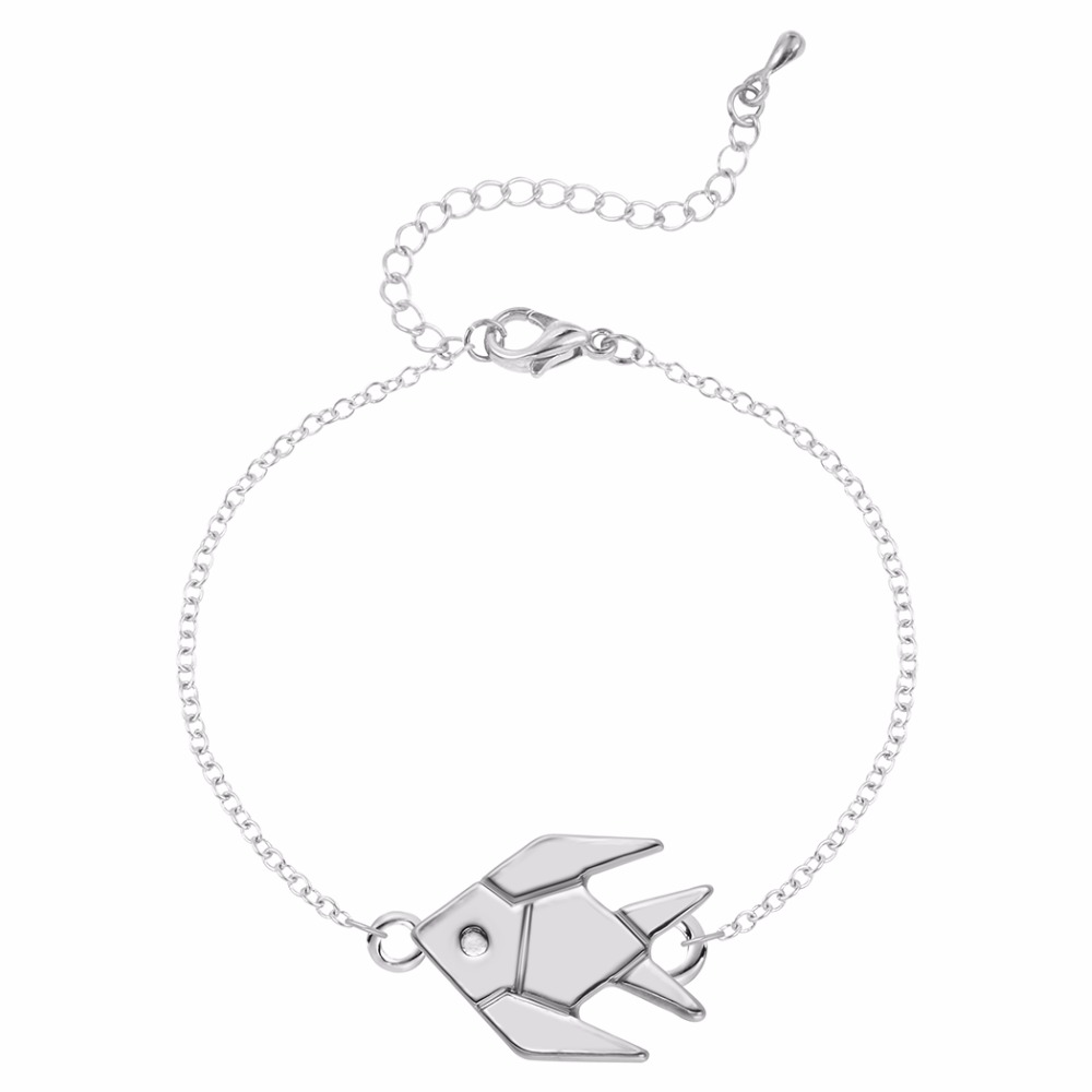Charm gold fish women bracelet cute origami tropical fish charm gold fish women bracelet cute origami tropical fish bracelets kids jewelry hematite magnetic bracelet gold hand chain in chain link bracelets from jeuxipadfo Images