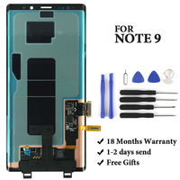 Best quality for Samsung Note 9 lcd for N960 N950F N960D N960DS display 100% test good quality mobile phone assembly replacement
