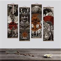 Японский ukiyoe для HD Холст Плакат Украшение картина с твердой древесины висит свиток