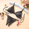 Fashion 2Pcs/set New sexy lingerie Open Chest Bra + Underwear lace gather slim suit CYM9070 dress Beauty Set