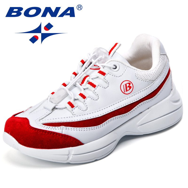 BONA New Popular Style Children Sneakers Synthetic Boys Casual Shoes Hook & Loop Girls Outdoor Leisure Shoes Fast Free Shipping Sneakers Mother & Kids - title=