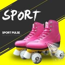 Для взрослых и детей, двухрядные роликовые коньки, 4 колеса, обувь для катания на коньках, хорошая как SEBA, коровья кожа, патины, подарки для детей IB33