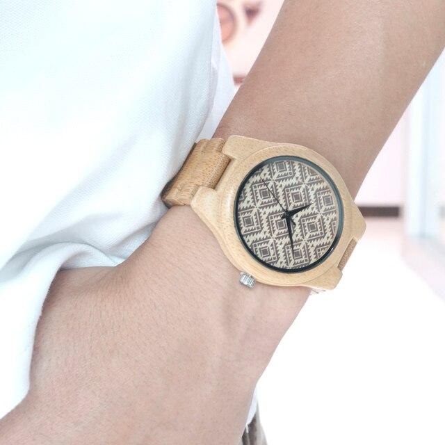 Zegarek damski drewniany wzorek