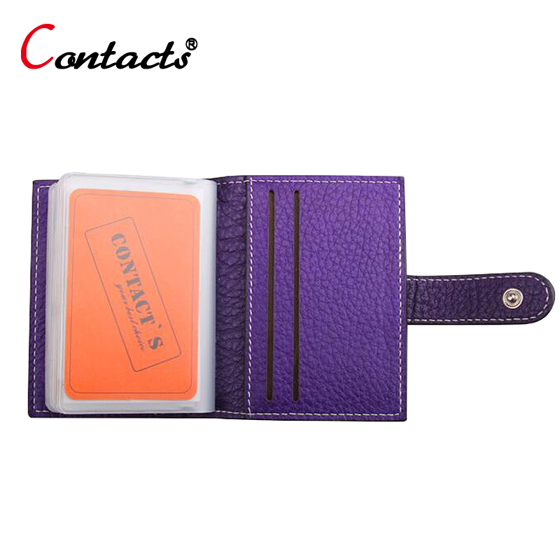 CONTACT'S Genuine Leather Credit ID Cards
