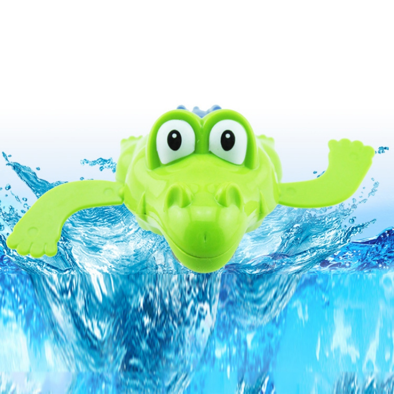 Kid Educational Toys Infant Crocodile Gift Baby Bath Swimming Toy Crocodile Windup Clockwork Play Swimming Alligator