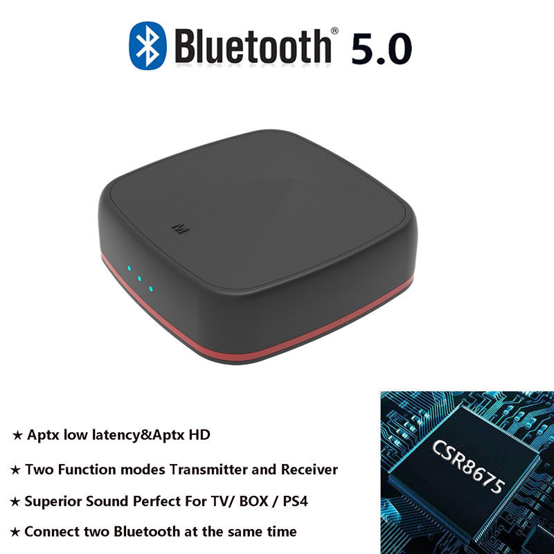 Bluetooth 5 0 CSR8675 Transmitter Wireless Audio Receiver Aptx HD Receptor With Digital Optical Toslink SpdifP Aux Adapter in Satellite TV Receiver from Consumer Electronics