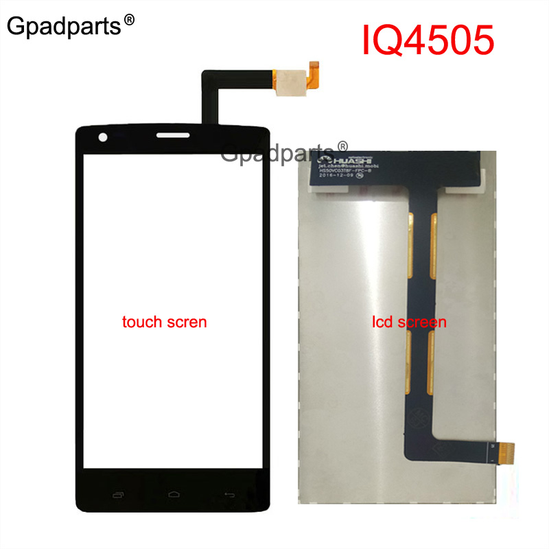 Gpadparts For Fly IQ4505 Quad Era Life 7 IQ 4505 Lcd screen display touch screen glass digitizer parts Black