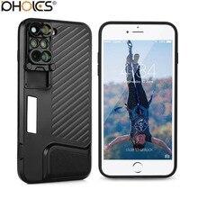 Big discount 2017 8 Plus Dual Camera Lens Fisheye Wide Angle Macro Lens Telescope Lens For Apple iPhone X 8 Plus/7 Plus+Phone Case Black
