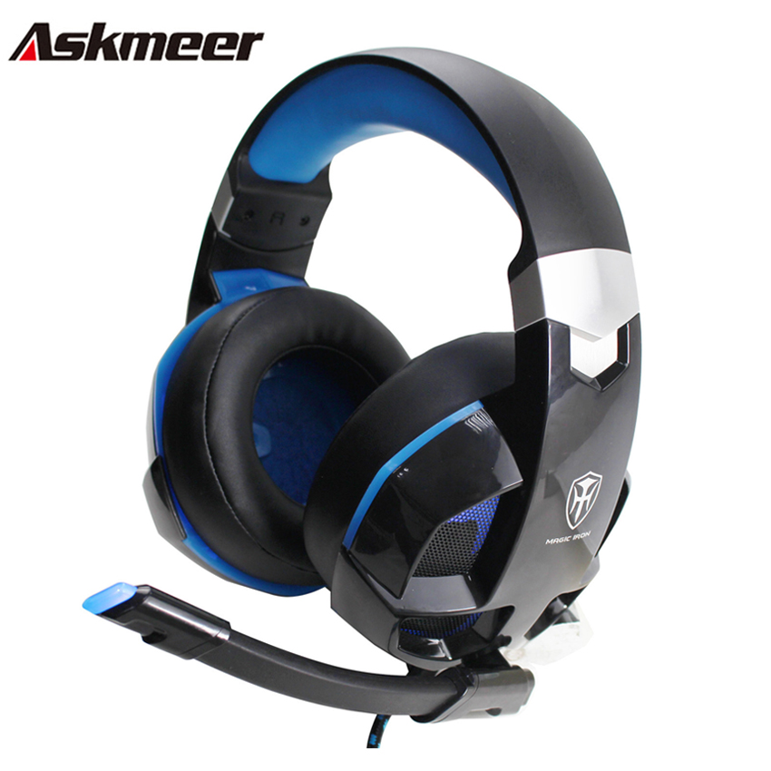 askmeer m5 ps4 gaming headset gamer casque pc stereo headphones with microphone led lights for. Black Bedroom Furniture Sets. Home Design Ideas