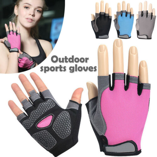 Road Bike Cycling Half Finger Gloves BMX Bicycle Riding Race Fingerless P1
